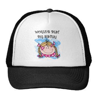 Blond Girl World's Best Big Sister Trucker Hat