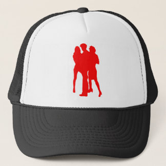 Blond girls trucker hat