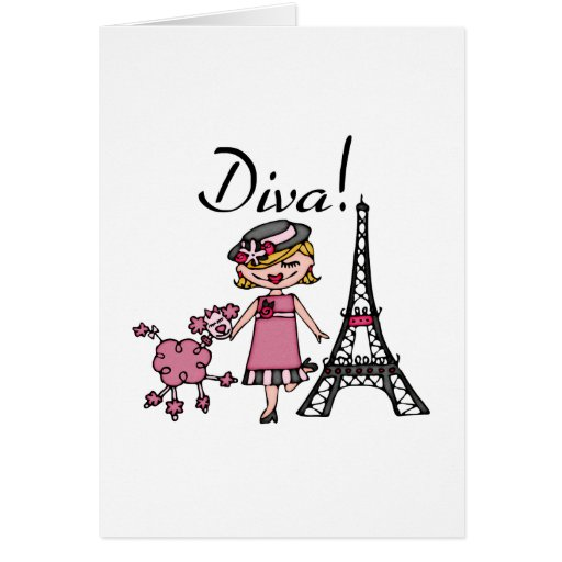 Blond Hair Diva Greeting Card