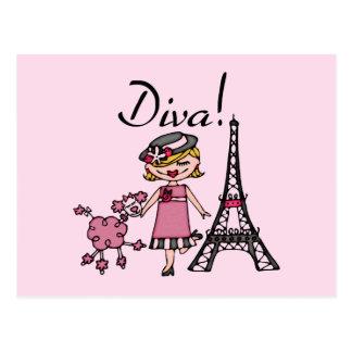 Blond Hair Diva Postcard