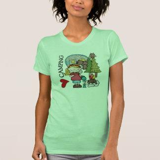 Blond Hair Girl I Love Camping T-shirt