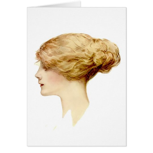 Blond Harrison Fisher Girl Card