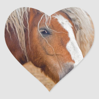 Blond Horse Heart Sticker