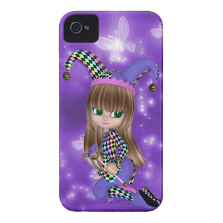 Blond Jester Girl iPhone Case iPhone 4 Covers