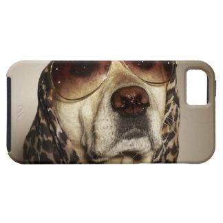 Blond Labrador Retriever wearing sun glasses iPhone SE/5/5s Case