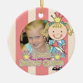 Blond Little Beauty Queen Keepsake Ornament
