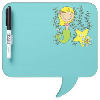 Blond Mermaid Dry-Erase Boards