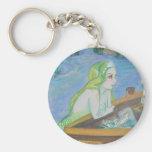 Blond Mermaid key chain