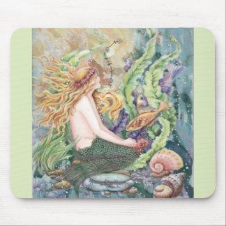 Blond Mermaid Mouse Pad