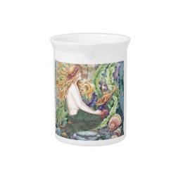 Blond Mermaid Pitcher