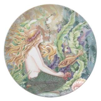 Blond Mermaid Plate