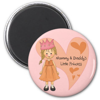 Blond Mommy and Daddy's Princess Magnets