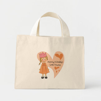 Blond Mommy and Daddy's Princess Mini Tote Bag