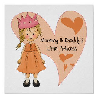 Blond Mommy and Daddy's Princess Poster