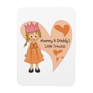 Blond Mommy and Daddy's Princess Rectangle Magnet