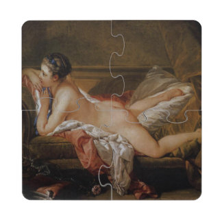 Blond Odalisque by Francois Boucher Puzzle Coaster