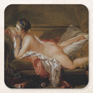 Blond Odalisque by Francois Boucher Square Paper Coaster