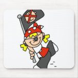 Blond Pirate With Flag Mouse Mats