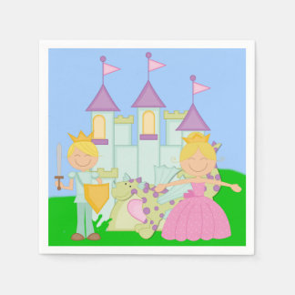 Blond Prince and Princess Paper Napkins
