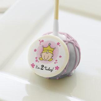 Blond Princess 2nd Birthday Cake Pops