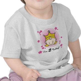 Blond Princess 2nd Birthday Tee Shirts