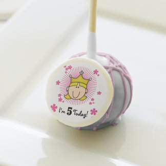 Blond Princess 5th Birthday Cake Pops