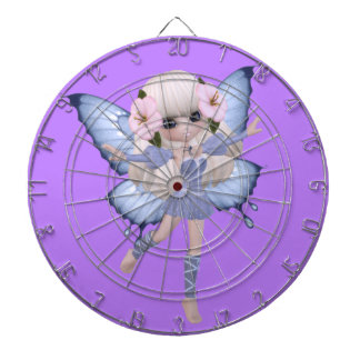 Blond Princess Butterfly Dart Board