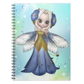 Blond Princess Butterfly Notebook