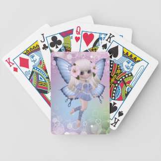 Blond Princess Butterfly Playing Cards
