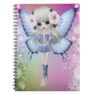 Blond Princess Butterly Notebook