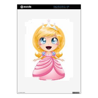 Blond Princess In Pink Dress iPad 2 Skins