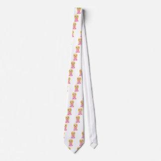 Blond Princess In Pink Dress Neck Tie