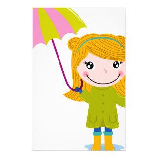 Blond rainy girl t-shirts stationery