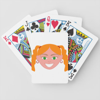 Blond Red Head Girl Face Bicycle Playing Cards