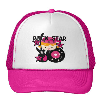 Blond Rock Star Girl Trucker Hat