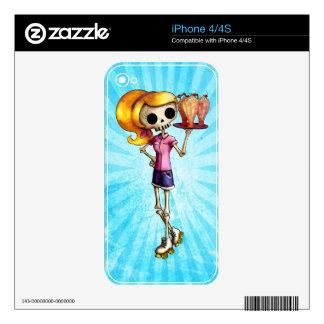 Blond Skeleton Waitress Skin For iPhone 4