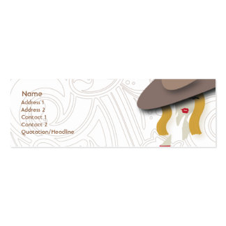 Blond - Skinny Double-Sided Mini Business Cards (Pack Of 20)
