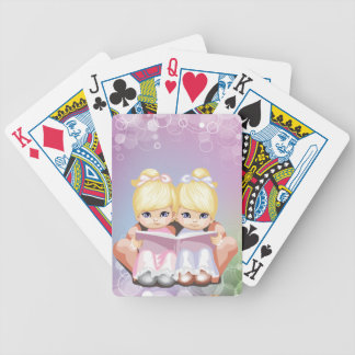Blond Twins Playing Cards