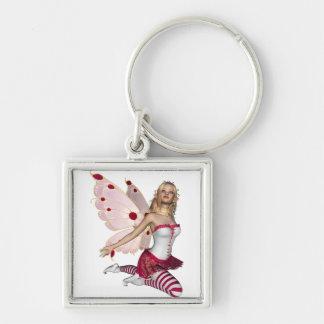 Blond Valentine Fairy - Pink 1 Keychain