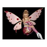 Blond Valentine Fairy - Pink 2 Post Card