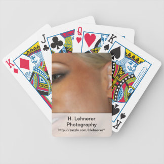Blond Woman Bicycle Playing Cards