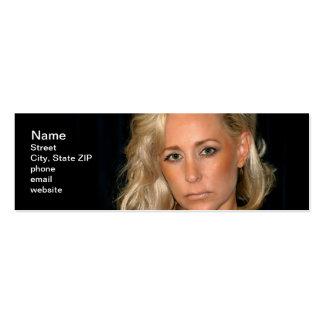 Blond Woman Business Card Templates