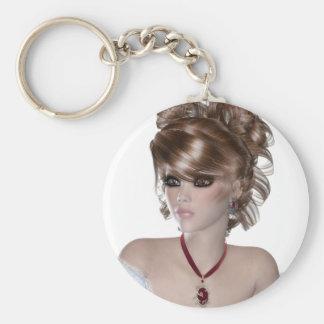 Blond Woman Keychains