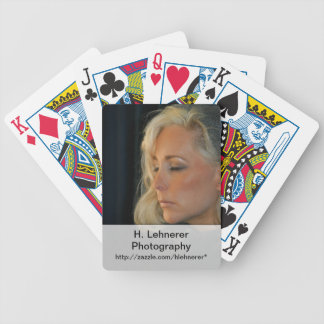 Blond Woman Relaxing Bicycle Playing Cards