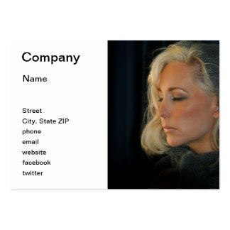 Blond Woman Relaxing Large Business Cards (Pack Of 100)