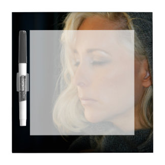 Blond Woman Relaxing Dry-Erase Boards