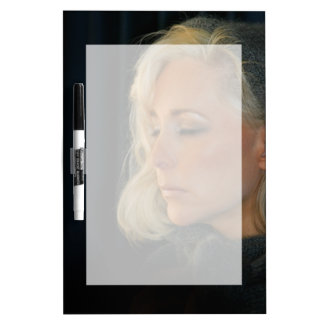 Blond Woman Relaxing Dry-Erase Board