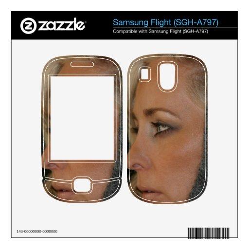 Blond Woman Skins For Samsung Flight