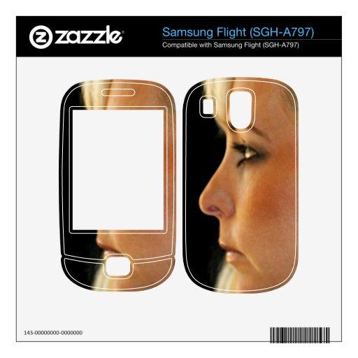Blond Woman Samsung Flight Decals