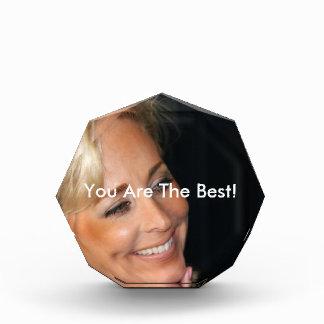 Blond Woman Smiling Acrylic Award